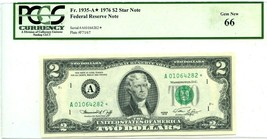 $2 DOLLARS 1976 STAR NOTE BOSTON F 1935 A * LUCKY MONEY VALUE $350 - $315.00