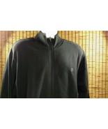 Mens Starter Zip Sweatshirt Black Track Jacket Cotton Blend Large L Pockets - $28.45
