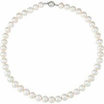 """Freshwater Cultured Pearl 18"""" Necklace In Sterling Silver - $247.49"""