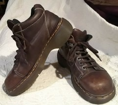 Dr Martens Mens Boots US 8 Brown Leather Lace Up England - $26.08