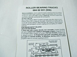 Micro-Trains Stock # 00402031 #956 Roller Bearing Trucks w/ Magnetic Couplers (Z image 2