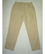 WOMEN RIDERS TAN JEANS 14 P - $11.99