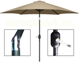 8 ft Aluminum Outdoor Patio Garden Umbrella Market Yard Beach Crank Tilt... - $69.99