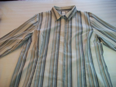 Primary image for WOMEN LADIES APT 9 BLUE WHITE STRIPED CAREER SHIRT XL EX LAR