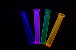 Neon Blacklight Reactive 1.5oz Tube Shot Glasses 15ct  - $7.50