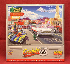 Master Pieces Cruisin' puzzle Drive Through on Route 66 sealed 1000 piece - $8.00