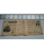 Home Treasure 1874 Paper Loan Notice Nobleboro $275 Benjamin York Thomas... - $23.74