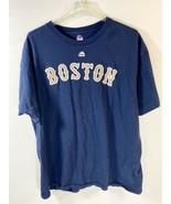 Majestic Boston Red Sox Big Papi David Ortiz Final Season TShirt XL Blue  - $11.87