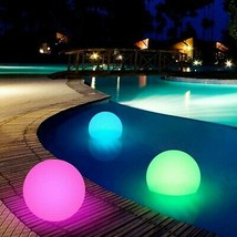 20-40cm Floating LED Ball w/ Remote Outdoor Swimming Pool Waterproof Light Decor - $65.99