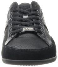 Hugo Boss Green Men's Premium Sport Fashion Sneakers Running Shoes Spacit image 5