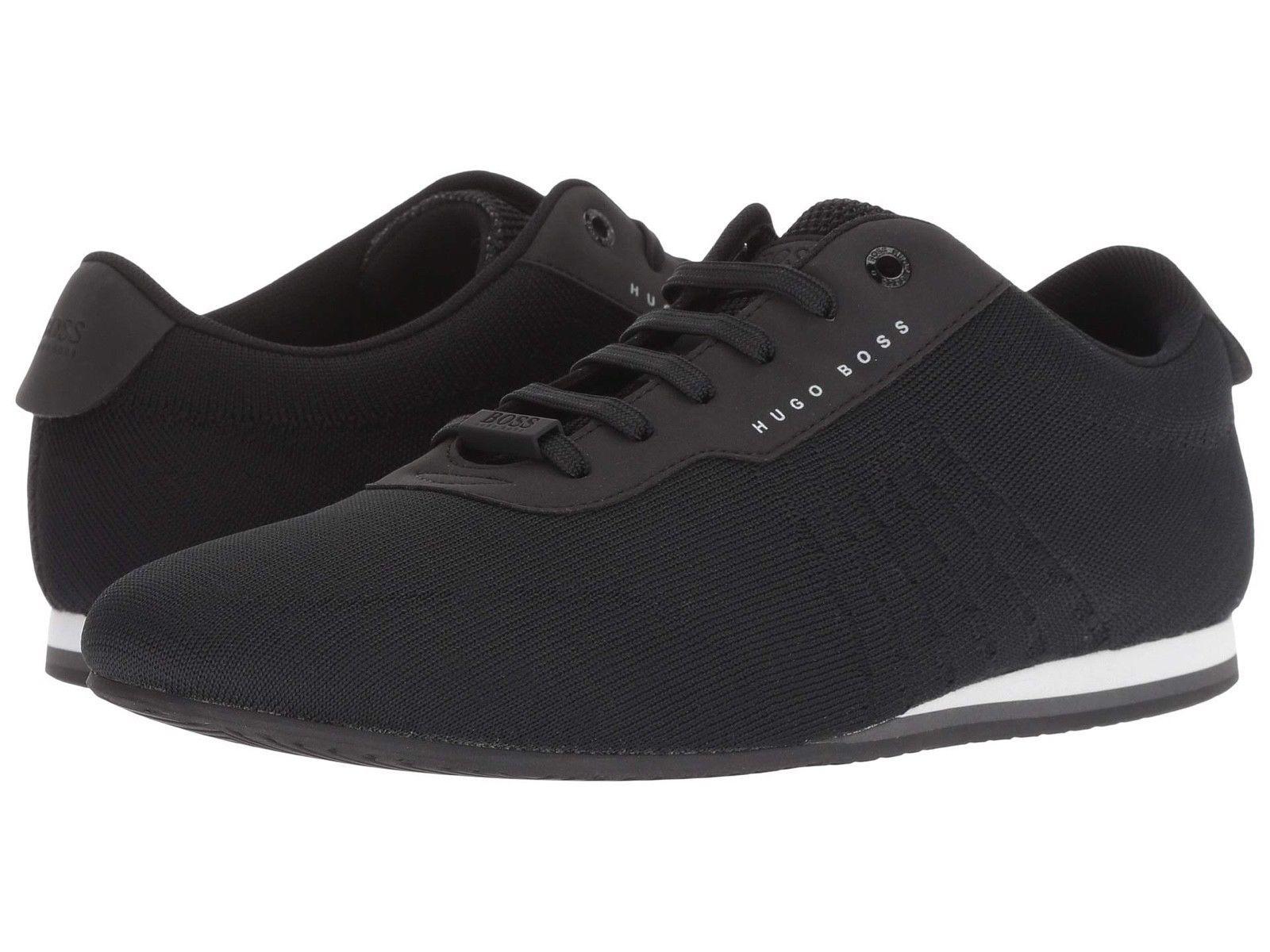 Hugo Boss Men's Premium Sport Mesh Sneakers Shoes Lighter Lowp Knit Black