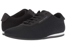 Hugo Boss Men's Premium Sport Mesh Sneakers Shoes Lighter Lowp Knit Black - $188.05