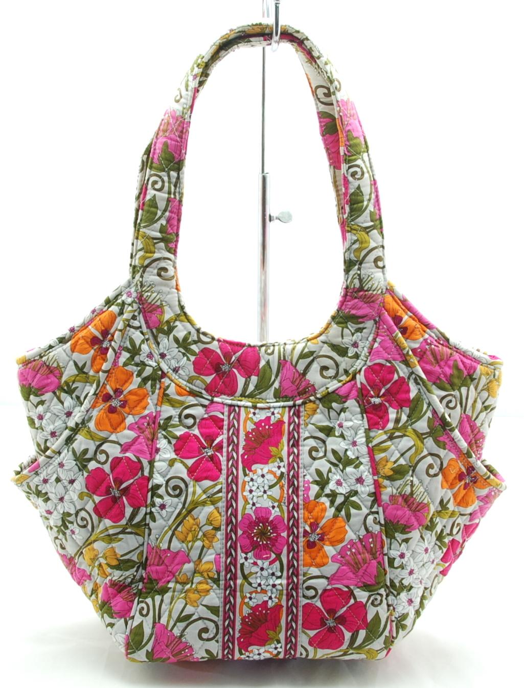 Vera Bradley Side By Side Tote In Tea Garden Bag Purse