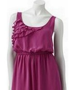 Eyelash Couture Magenta Pink Fuschia Chiffon Juniors Dress - $19.98