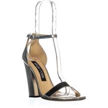 Sergio Rossi Lea Argento Ankle Strap Sandals, Silver, 10 US / 40 EU - $274.55