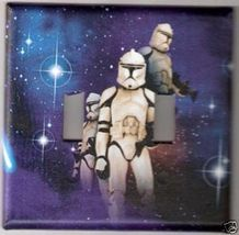 Star Wars Storm Troopers Double Light Switch Plate - $8.75