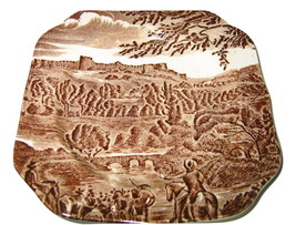 "Johnson Brothers Road To Windsor Plate Ironstone England Castle Design 6"" Square - $9.89"