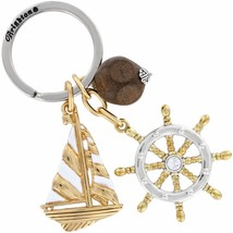 NWT Brighton WindStar Nautical Gold Plated Key FOB Chain Ring E14400 $37. - $17.35