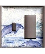 Puffy Dolphins Combo Light Wall Switch Plate Cover   - $8.75