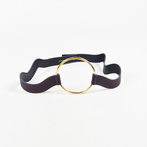 Roksanda NWOT  Purple Leather Gold Tone Circle Wavy Belt SZ L - $80.00