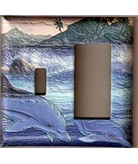 Puffy Dolphins Combo Light Wall Switch Plate Cover 2 - $8.75