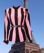 1980s vintage plus size black pink shirt large 1x xl extra large 8 10 - $24.99