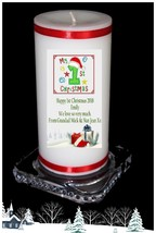Baby's 1st   Christmas Candle personalised Gift own message  | Cellini #8 - $16.80