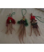Set of 3 Handcrafted Palm Leaf Ornaments - $4.45