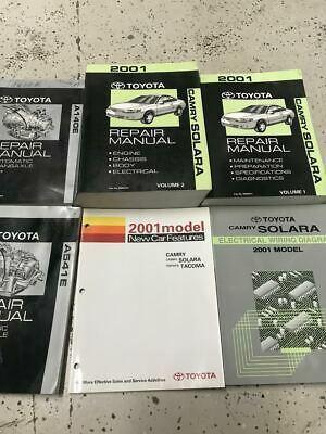 2001 TOYOTA CAMRY SOLARA Service Repair Shop Workshop Manual Set W EWD +Trans