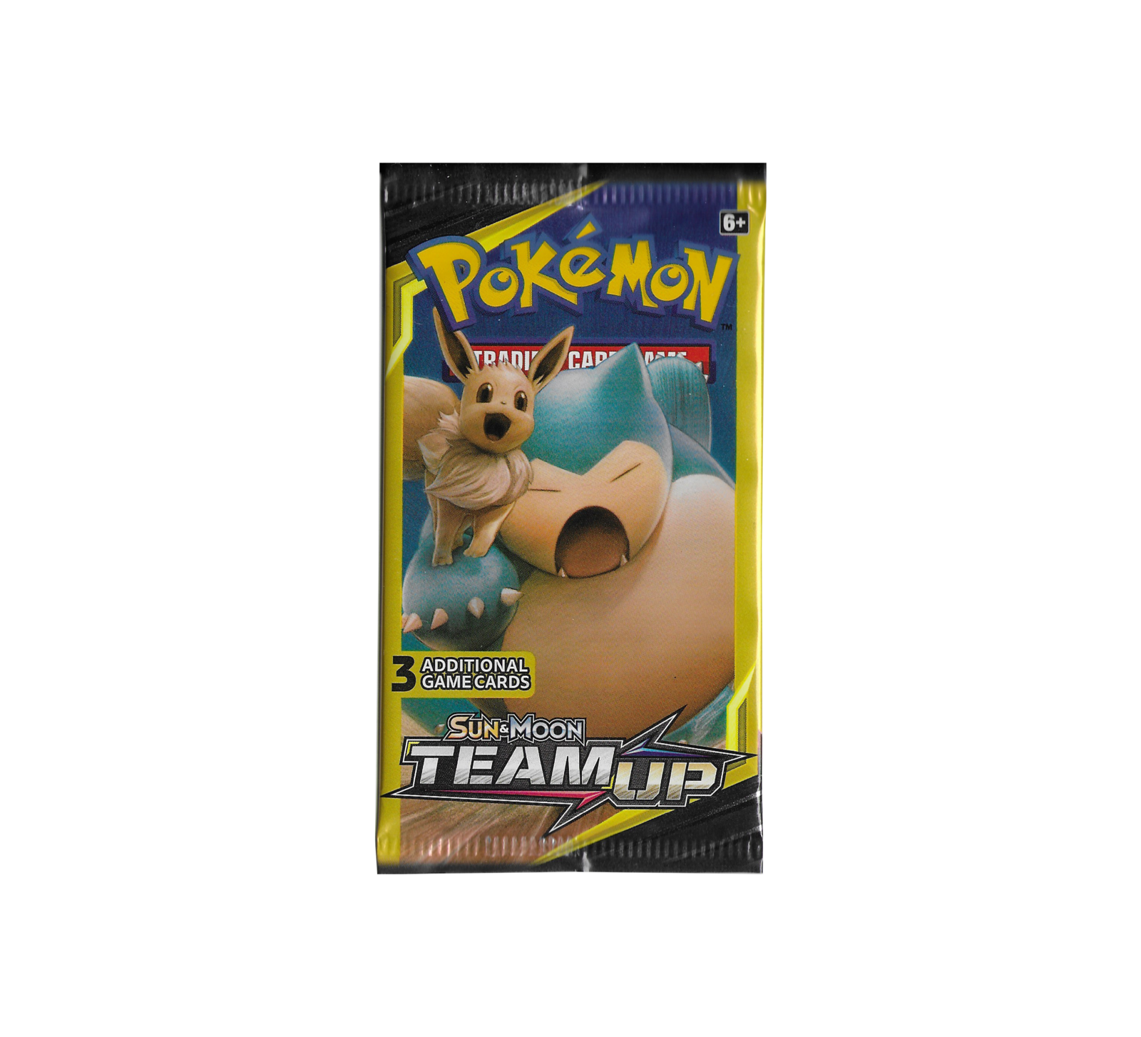 Pokemon sun   moon team up eve   snorlax booster cover