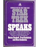 STAR TREK SPEAKS - 1979 SC Book by Sackett and ... - $7.99