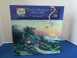 Cottage By The Sea 500pc Jigsaw Puzzle Thomas Kinkade Ocean,House,Flowers,Waves - $18.69