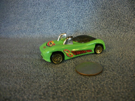 Hot Wheels Mattel 1995 Green Power Pipes Sports Car Made in Malaysia - $1.56
