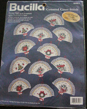 Bucilla Cross Stitch Kit - Festive Fans makes 12 Christmas Ornaments - $12.99