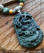 Dragon Necklace, Chinese Dragon Horoscope, Tribal Gemstone Necklace (297) - $38.99