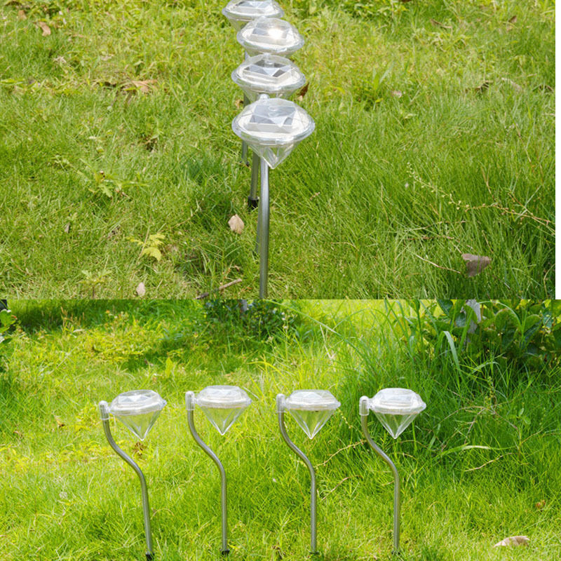 4X Waterproof Solar Power Outdoor Yard LED Path lamp Garden Lawn Landscape Light