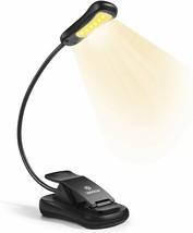 3000K Warm 6 LED Book Light Easy Clip on Reading Lights for Reading in B... - $20.78