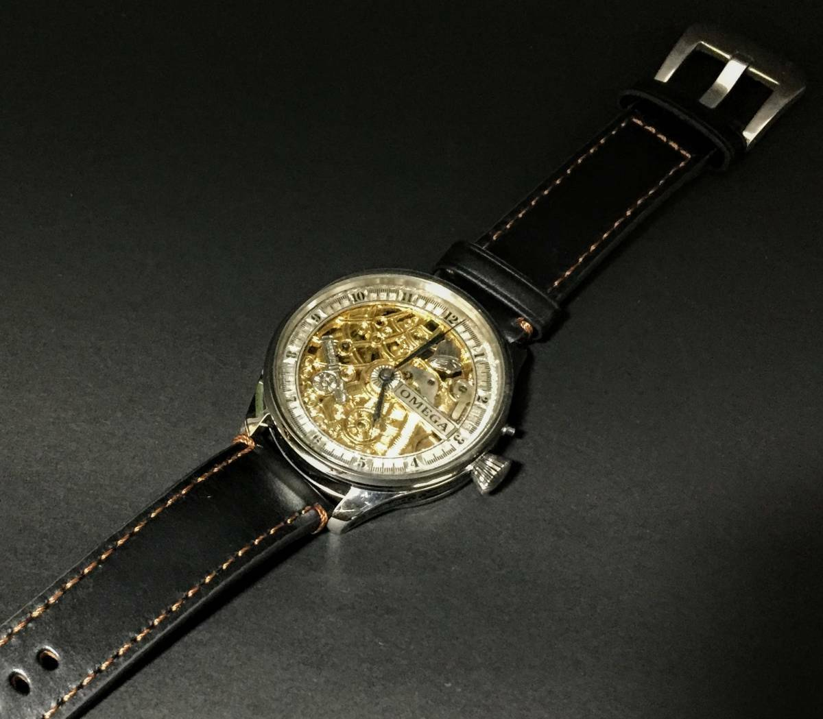 Heart on the 1897 Omega / one product / full skeleton / manual winding watch /