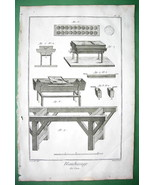 WAX Blanching Tools Molds - 1763 Diderot Folio Print Copperplate - $9.18