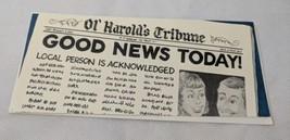 Vintage Party Cards UNUSED Notecard Ed Faust Art Newspaper Ol' Harold's ... - $3.00