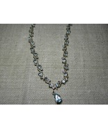 Blue Topaz Necklace Sterling Silver 9 ctw - $59.95