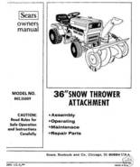 "Craftsman 36"" Snow Thrower Attach. Manual # 842.26009 - $7.53"