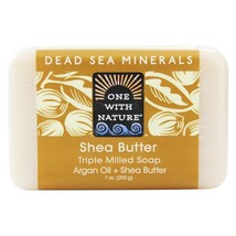 One With Nature Dead Sea Mineral Bar Soap Ultra Moisturizing Shea Butter... - $8.19