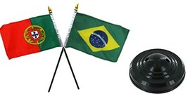 ALBATROS Portugal with Brazil Brazilian Flags 4 inch x 6 inch Desk Set T... - $26.08