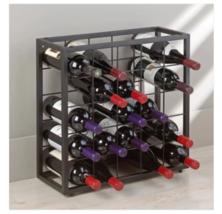 25 Bottle Holder Wine Rack Stackable Storage Metal Display - $48.46