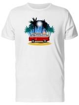 Retro Red Van On Beach Men's Tee -Image by Shutterstock - $12.86+