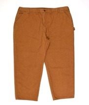 Carhartt Work Pants Mens Size 49 x 30 Brown Heavy Canvas Dungarees Carpe... - $29.69