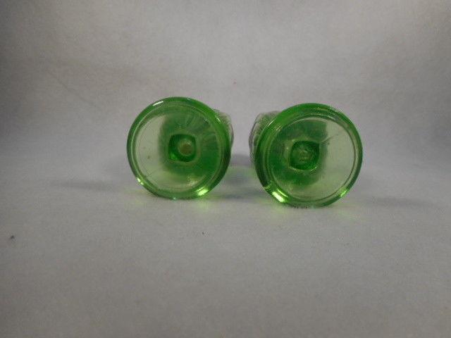Vintage Anchor Hocking Pair Green Depression Glass Salt and Pepper Set