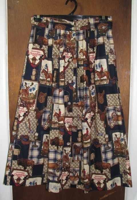 Primary image for Women's FSTOP Cotton Skirt Size 12 Canadian Theme