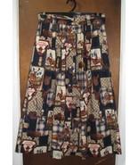 Women's FSTOP Cotton Skirt Size 12 Canadian Theme  - $12.00
